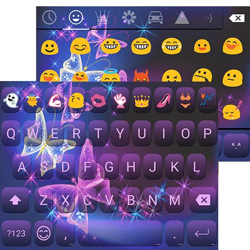 Purple Butterfly Keyboard Skin