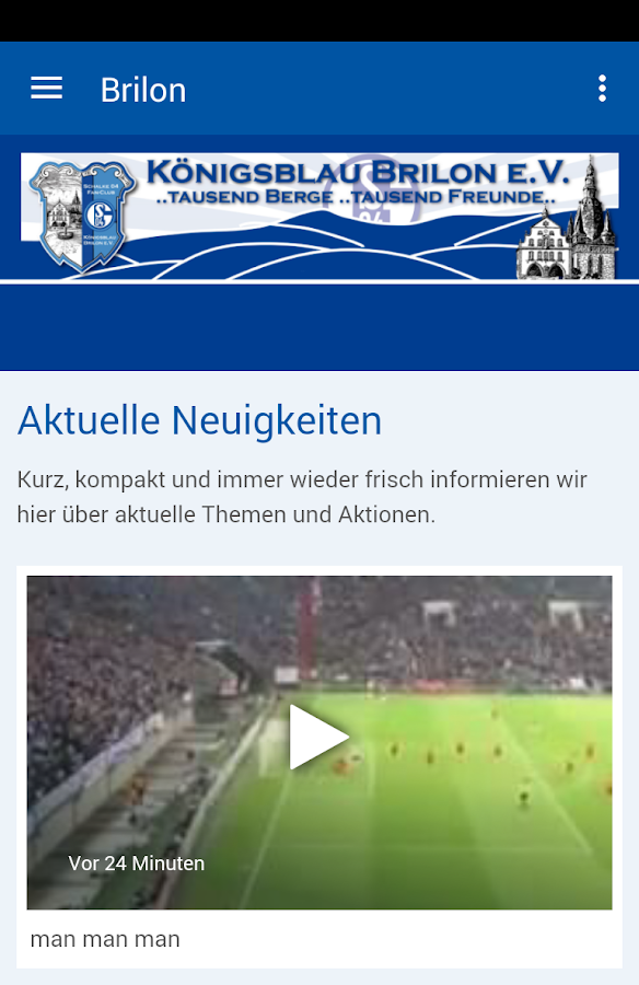 Königsblau Brilon eV- screenshot