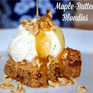 Maple-Butter Blondies