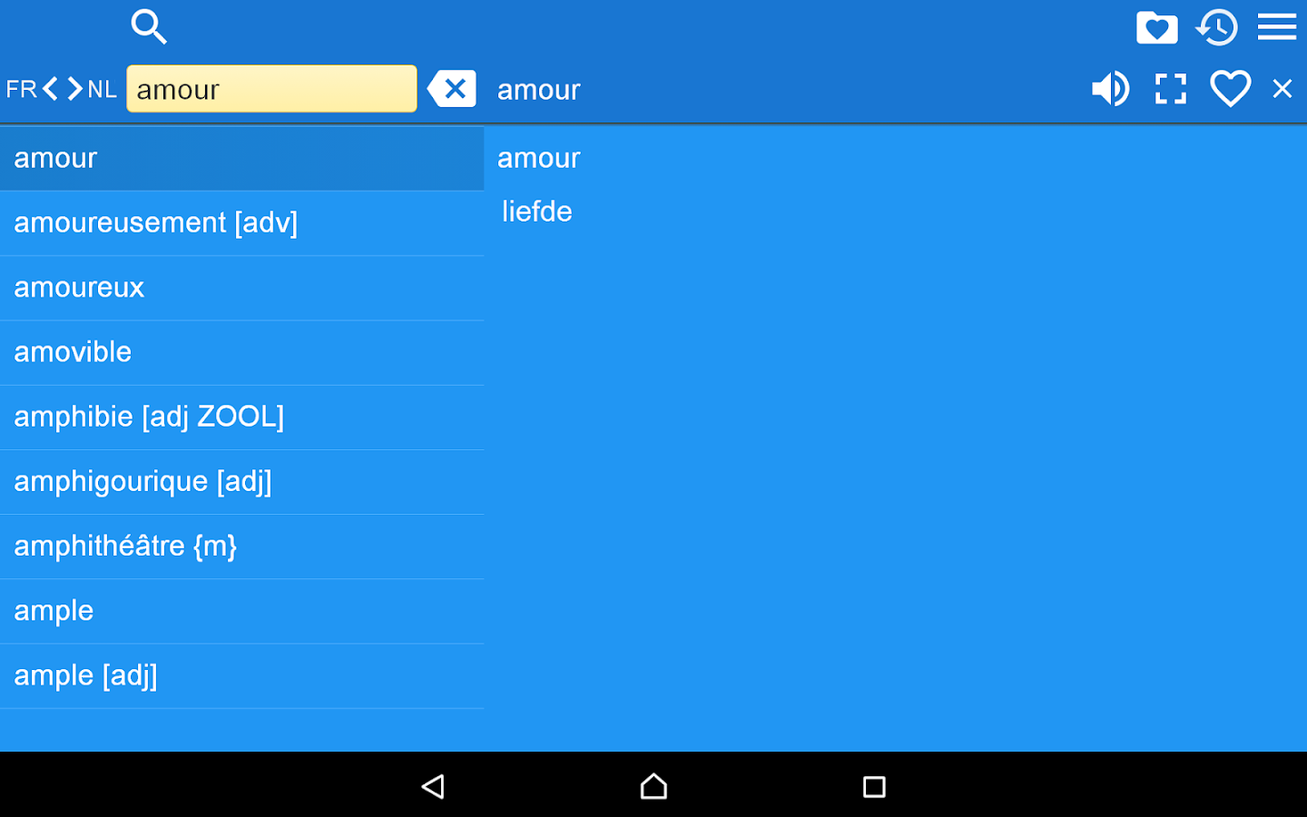 French Dutch Dictionary Free- screenshot