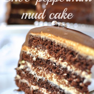 Choc peppermint mud cake - Claire K Creations turns 3!