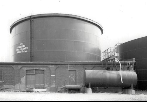 historic distillery molasses tank