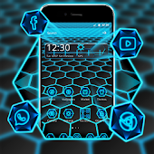 Tema de Neon Light Hexagon