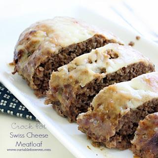 {Crock Pot} Swiss Cheese Meatloaf.
