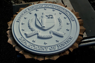 Photo: FBI Plaque for 20th Century Fox for the film; The Heat starring Sandra Bullock. See more of my signs at http://www.nicecarvings.com