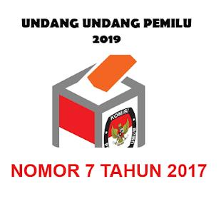 UU PEMILU Nomor 7 Tahun 2017 - náhled