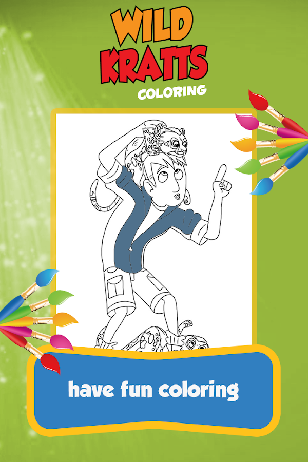 kratts coloring game for wild screenshot - Wild Kratts Coloring Book