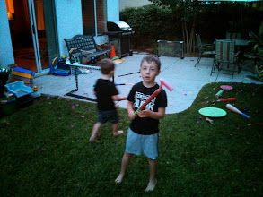"Photo: Clark Plays ""Walking Sticks of Power"""