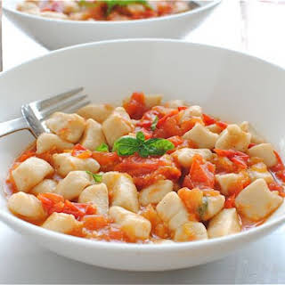 Homemade Gnocchi with a Roasted Tomato Sauce.