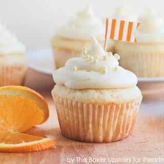 Orange Cream Cupcakes.