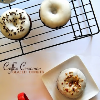 Coffee Creamer Glazed Donuts