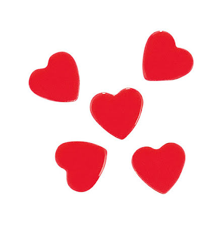 Nagelglitter fuchsia hearts