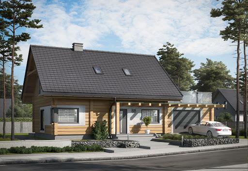 projekt Trypolis 3 projekt domu z bali drewnianych