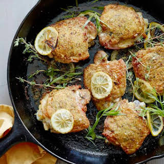 Crispy Lemon Chicken Thighs.