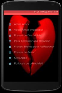 Adios Amor Frases De Despedida Poemas Gratis Efarmoges Sto Google Play
