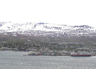 Photo: Akureyri, the second largest town in Iceland, is where we stayed for three days.