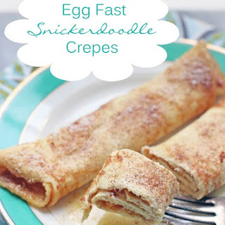 Keto Egg Fast Snickerdoodle Crepes.