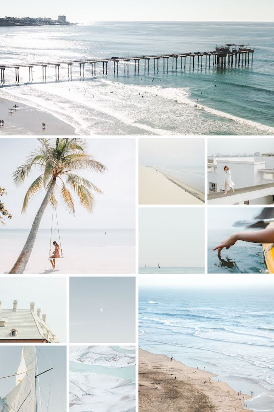 Beach Collage - Pinterest Pin Template