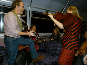 Photo: Dogwood Rose in action on the train to Sheffield.