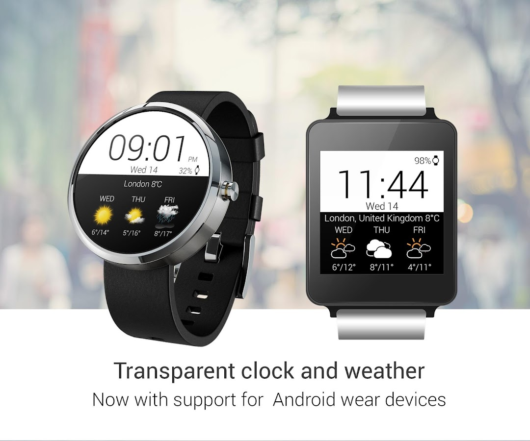 Transparent clock weather Pro- screenshot
