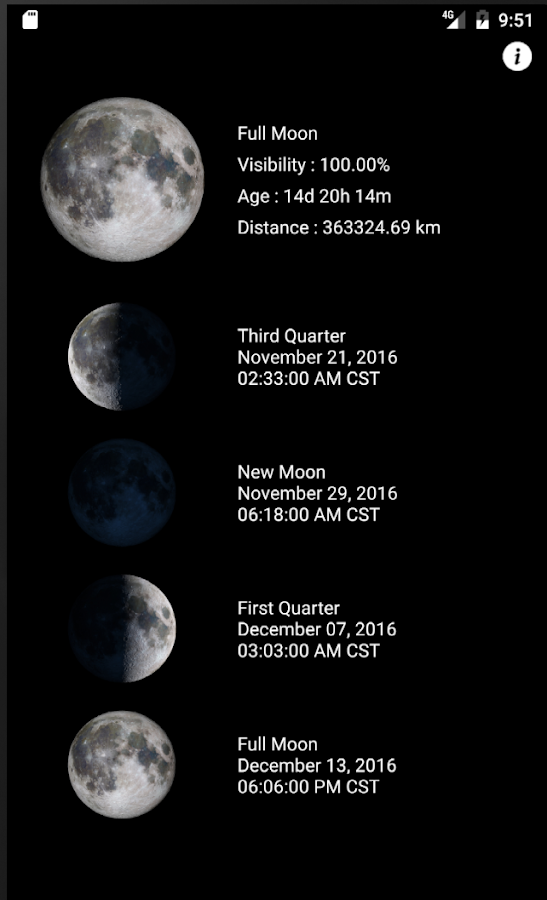 Lunar Phase - Moon Phases- screenshot