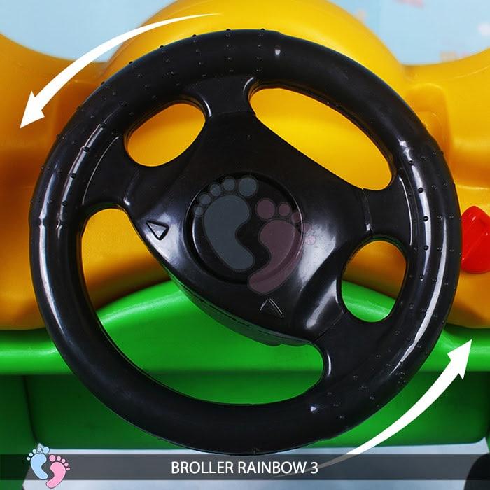 Xe chòi chân Broller Rainbow 3 cho bé 8