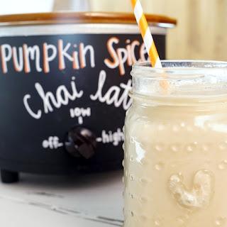 Crockpot Pumpkin Spice Chai Latte