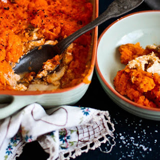 Crustless Salmon Sweet Potato Pie