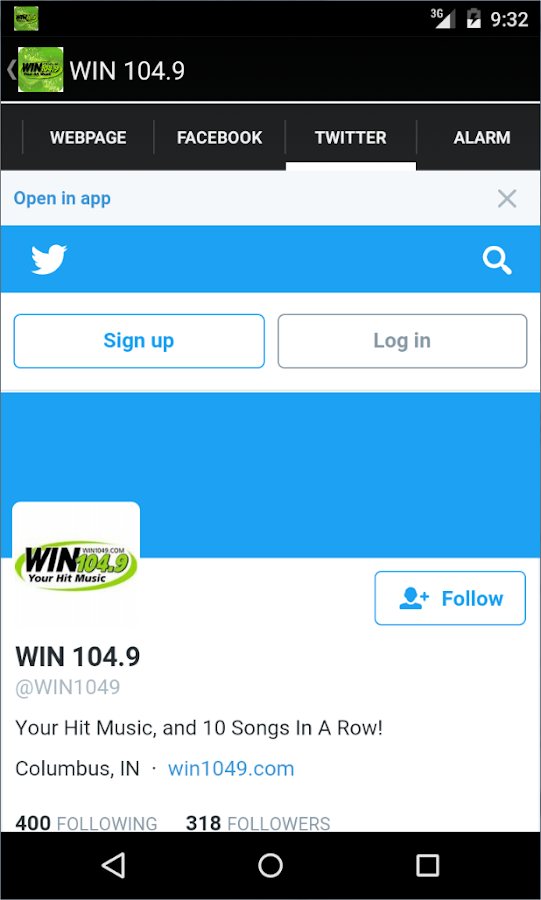 WIN 104.9- screenshot