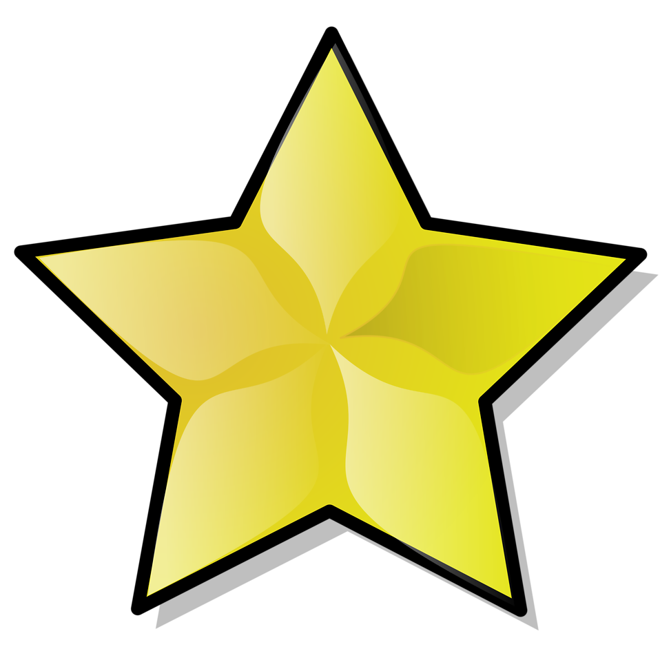 Illustration of a yellow star ...