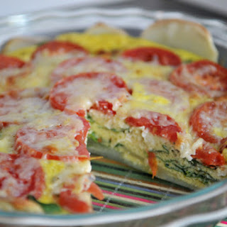 Cheesy Spinach and Tomato Quiche