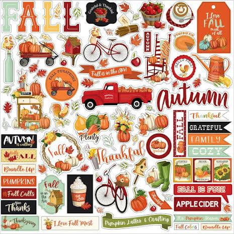 Carta Bella Cardstock Stickers 12X12 - Welcome Autumn