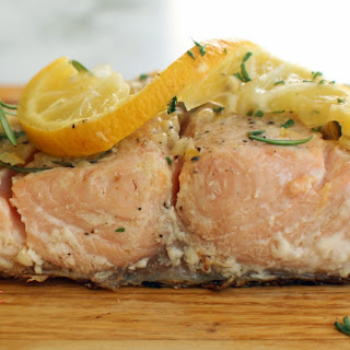 Grilled Salmon with Lemon, Garlic & Rosemary Recipe