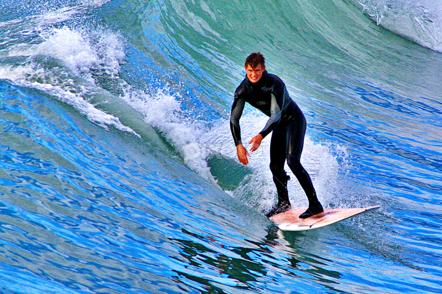 Surfing At New Brighton Beach - Marine Parade, New Brighton