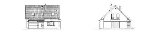 Przytulny 1A - Elewacja przednia i boczna