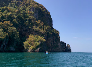 Photo: An easy way to avoid the crowds on Ko Phi Phi is by renting kayacks and taking them around to the back side of the island.