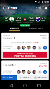 Rooter- Live Match Prediction Game, Score & Chat- screenshot thumbnail
