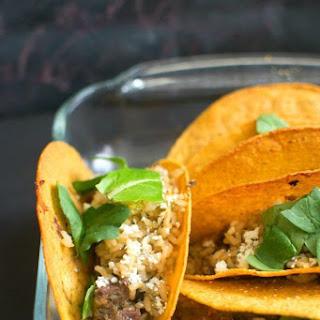 Salsa Verde Steak Baked Tacos