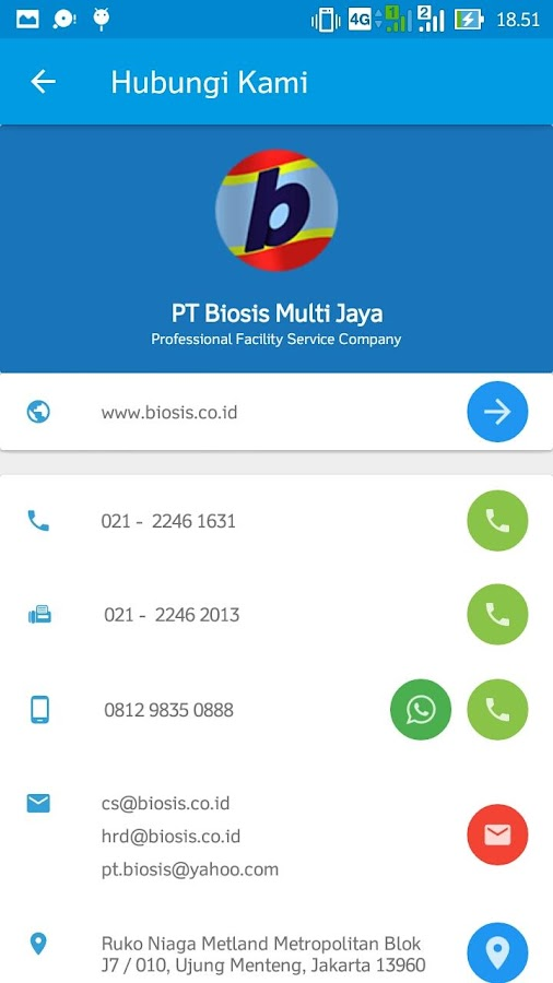 BIOSIS SERVICES- screenshot