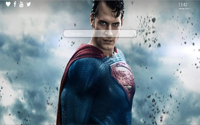 Superman Wallpaper Theme for Google Chrome