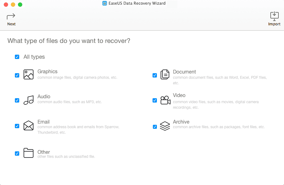 EaseUS Data Recovery Wizard/DRW for Mac...