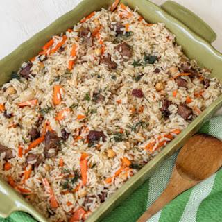 Baked Rice Pilaf (Plov)