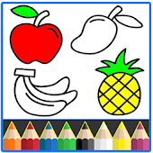 Fruits Coloring Game & Drawing Book - Kids Game