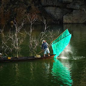 Fishing by Huynh Phuc Hau - People Street & Candids