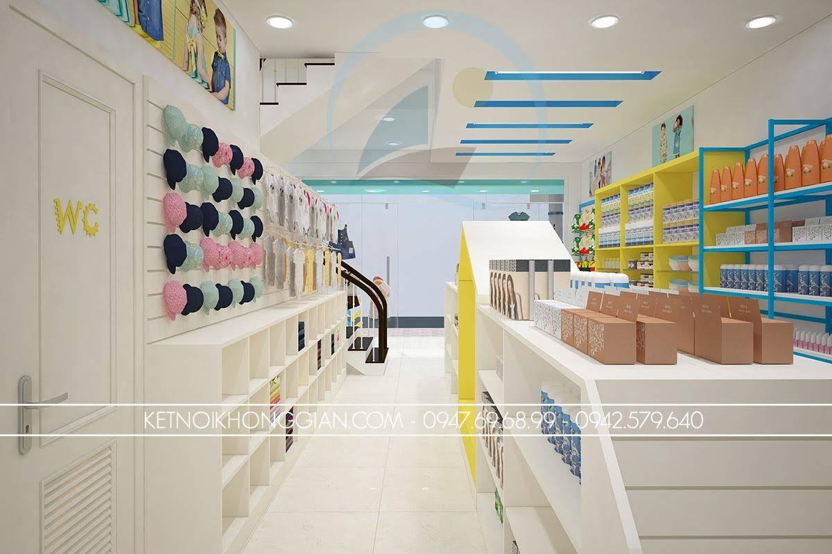 thiết kế shop thời trang mẹ và bé cao cấp