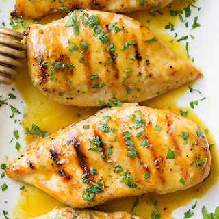 Grilled Chicken with Honey Mustard Glaze