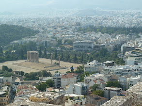 Photo: Le Temple de Zeus vue de l'Acropole