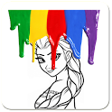 Paint Girl Picture icon