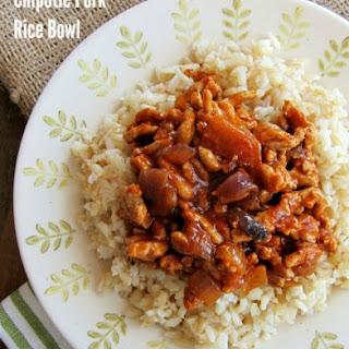 4-Ingredient Chipotle Pork Rice Bowl
