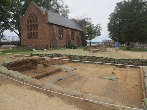 Photo: Present day archaeological dig at Jamestown, near the James Fort.  Jamestown, Virginia.